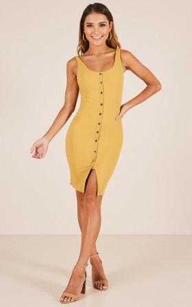 Sass Queen dress in mustard