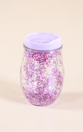 Double Wall eCup in purple sparkles
