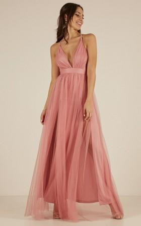 Celebrate Tonight maxi dress in dusty pink
