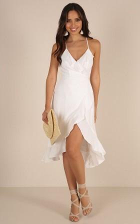 Mind Over Matter dress in white