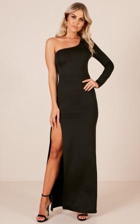 Blazing Star maxi dress in black